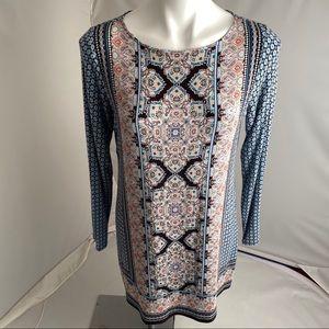 J. Jill multicolor long sleeve dress S